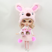 Blyth doll Pink Rabbit suit including bag and hat and stocking for 1/6 Doll BJD NEO(China)