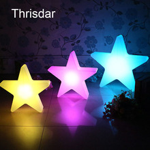 Thrisdar USB Rechargeable Star Led Night Light With Remote 16 Color Table Lamps For Kids Children Gift Party Room Decoration