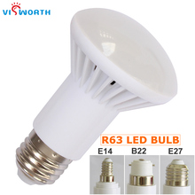 R63 Led Lamp 5W 7W 9W SMD2835 18PCS Leds Bulb E27 E14 B22 Base Ac 110V 220V 240V Led Light Warm Cold White Table Lamp(China)