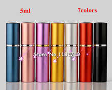 DHL/UPS Free 200pcs High Quality 5ml refillable atomizer mini perfume bottle for travel,glass bottles for perfumes(China)