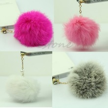3.5mm Faux Port Fur Hair Ball Anti Dust Earphone Cover Jack Stopper For iPhone