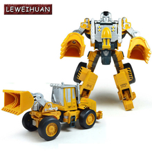 LEWEIHUAN Transformation Robot Car Fire Engine Excavator Bulldozer Toy Alloy 2 in 1 Model Car Oyuncak Crane Truck Toys Gifts(China)