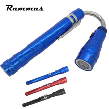 Rammus 1pcs Portable 360 Degree Stretched Telescopic Pick Up Led Flashlight Torch Lamp Magnetic Magnet Car Auto Repair Hand Tool