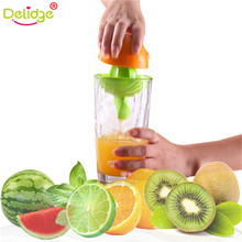 Delidge 1 pc Plastic Hand Manual Orange Lemon Juice Press Squeezer Convenient Fruits Squeezer Citrus Juicer Fruit Tools(China)