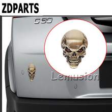 ZDPARTS 3D Cool Zinc Alloy Metal Skull Car-Styling Sticker Mercedes Benz W203 W204 211 AMG Smart Starline A93 Citroen C4 C5