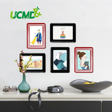 Wall Sticker Magnetic Photo Picture Frames Wall Decor Movable Flexible Colorful Square Frame Picture Frames for Wall 5 Pcs / Lot(China)