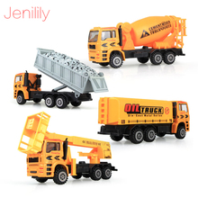 Jenilily Alloy engineering car models toy car dump car truck artificial model cars classic toys  Free shipping JNF09