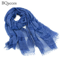 New fashion women solid color stripe cotton mohair scarves lady spring thick air scarf shawl wraps hijab super long bufanda