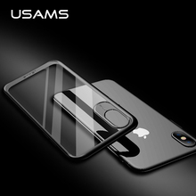 USAMS PC + TPU Clear Case For iPhone x Flexible Bumper Transparent Back Case Cover For iPhone x Crystal Case Ix Capa Fundas Bags