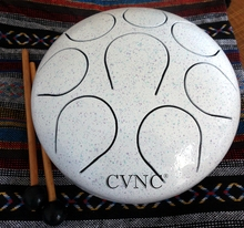 "Steel Tongue Drum Multi White with Free Bag and Mallet 10""(25cm)(China)"