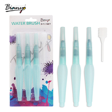 Bianyo 3Pcs Different Size Large Capacity Barrel Water Paint Brush Set For School Self Moistening Water Storage Pen Art Supplies