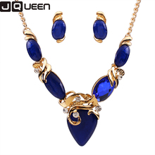 Vintage White/Blue/Black Bohemian Resin Stone Jewelry Sets For Women Bijoux NYJS108 3 Colors Unique Jewelry Set Elegant Design