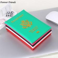 ForeverFriends United States Passport Holder Cover PU Lear ID Card Fashion Travel s passport Covers passport for America