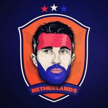 Robin Van Persie Netherlands football superstar # oil painting # 100% hand painted -special price large -free shipping cost