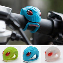 Unique Alien Head Design Silicone Bike Bicycle Cycling Head Front Rear Wheel LED Flash Light Lamp Warning Light Tail Light(China)