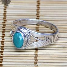 T9185 Nepal Handmade 925 Sterling Silver Inlaid Natural Turquoise Lovely Lady Rings Nepal vintage Girls jewelry Best offer