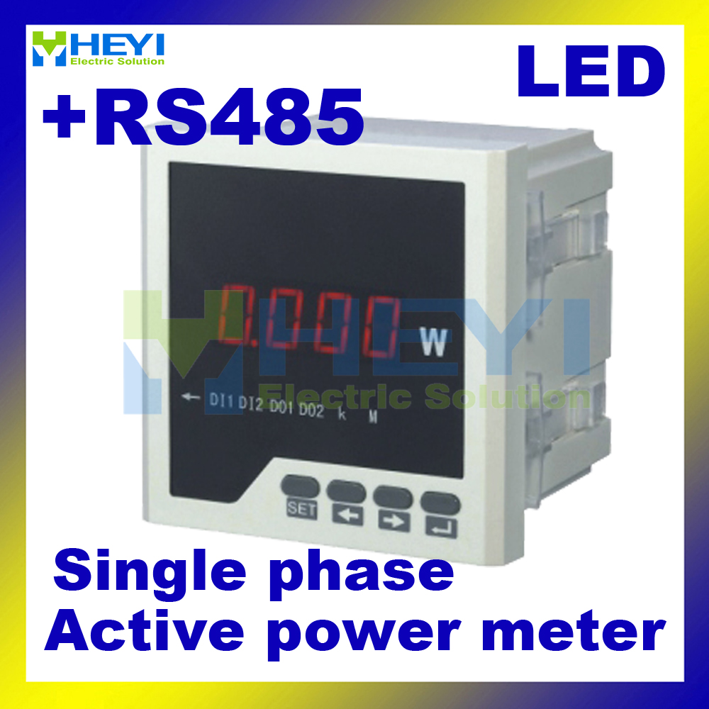 LED AC digital panel Class 0.5 Single phase digital active power meter with RS485<br><br>Aliexpress