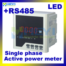 LED AC digital panel Class 0.5 Single phase digital active power meter with RS485(China)