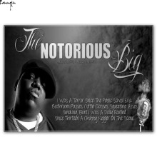 ZP774 The Notorious B.I.G Biggie Smalls American Rapper Music Hot Art Poster Silk Light Canvas Painting Print For Home Decor Wal(China)