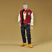 1/6 Scale Iron Man Fashion Clothes Set Models Accessories for 12 Inches Figures Baseball Jacket&Jeans Pants&T shirt& Leather Boo(China)