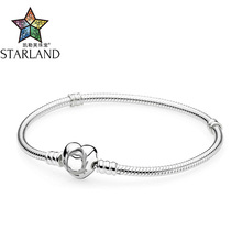 Buy Starland Fine Detail Authentic 925 Sterling Silver Snake Chain Heart Clip Charm Bracelet & Bangle Luxury Women Jewelry 16cm-21cm for $20.02 in AliExpress store