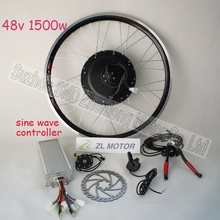 High quality bicycle conversion kit gearless hub motor 1500w 48V  include BLDC Noiseless sine wave controller  G-S021