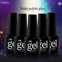 Zation 29 Colors UV Gel Long Lasting Led Lamp Gorgeous Gel Nail Polish Soak Off Gel Varnish Lacquer Gorgeous Nails Polish(China)