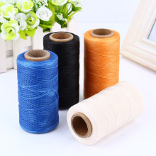 150D/16 260 Meters 1mm Waxed Thread Cotton Cord String Strap Necklace Rope Bead Linhas Para Crochet Embroidery Thread(Hong Kong)