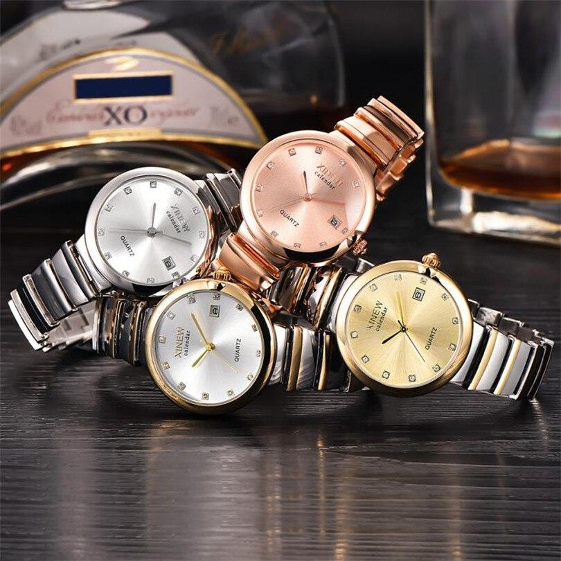 Durable relogio feminino Luxury XINEW Brand Fashion Crystal Analog Quartz Stainless Steel Lady Women Date Wrist Watch<br><br>Aliexpress