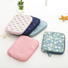 Travel electronic digital folder bag mobile phone charge treasure data line double certificate package passport card holder bag(China)