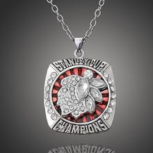 Classic collection 2013 Stanley Cup Finals Replica Chicago Blackhawks Champs Pendant Sport Necklace Fashion Fan Jewelry Souvenir(China)
