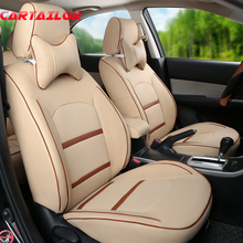 CARTAILOR PU Leather Cover Seat Custom Fit for Mitsubishi Pajero Sport Seat Covers Cars Accessories Set Grey Seats Cushion Pad(China)