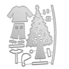 Christmas Tree Clothing Set Cutting Dies Metal Stencils Scrapbook DIY Craft Photo Album Decorative Paper Card Template