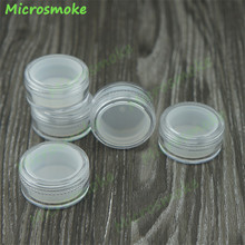 3pcs/lot 5ml Plastic Container with Lids High Quality bho Silicone Container Wax Oil Clear and White Plastic jars OEM custom(China)