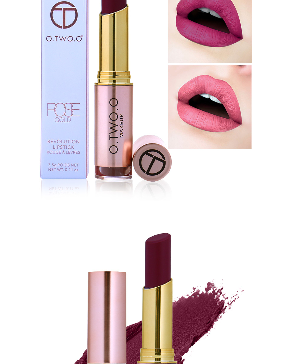 O.TWO.O Makeup Matte Lipstick Colors Vevet Long Lasting Kissproof All Day Lipstick Best Selling 17 For Girls 2