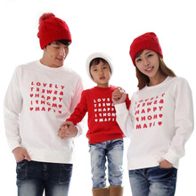 New 2017 family matching outfits mother and daughter clothes children's long sleeve t-shirt cotton family clothing girl boys top