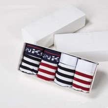 Manufacturer of special offer direct marketing modal striped boxer cotton men's underwear gift boxes(China)