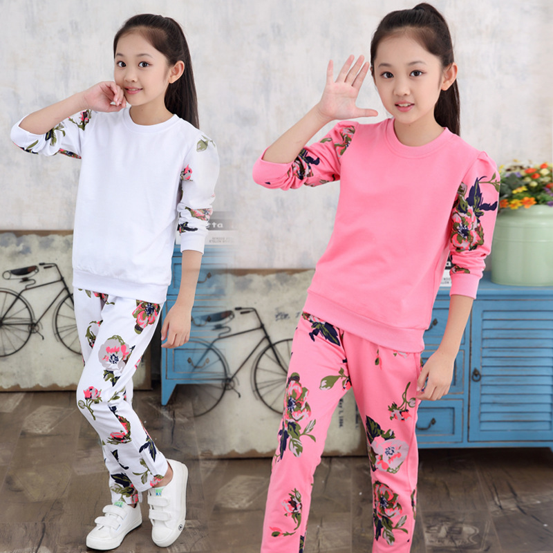 Childrens Garment Pattern Girl Suit Spring Autumn Korean Child Long Sleeve 2 Pieces Kids Clothing Sets Suits<br>