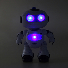 RC Robot Toy Remote Control Musical Electronic Toy Walk Dance Lightenning  Plastic Robot Toy Kids Children Boys Action Toy