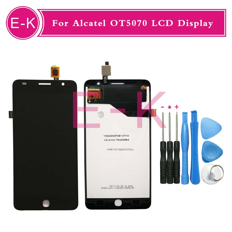 For Alcatel One Touch Pop Star OT5070 5070 LCD Display+Touch Screen Digitizer Assembly Replacement+tools<br><br>Aliexpress