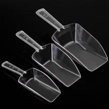 3pcs/Set 3 Sizes Plastic Clear Candy Scoops Bar Buffet Wedding Favor Party Tools Home Ice Sugar Sweets Candy Food Accessories(China)