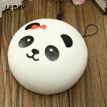 LEORY New Arrival 1PCS Beautiful Design Cute 10cm Squishy Charms Buns Cell Phone Charm Kawaii Jumbo Panda Key Bag Straps Pendant