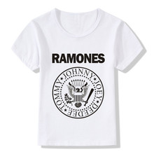 2017 Children Ramones Logo Print Cool T-Shirts Kids Summer Tops Boys/Girls Short Sleeve Clothes Casual Hipster Baby Tees,HKP2194