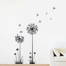 1PC New Arrival Creative Dandelion Removable Wall Stickers Mural PVC Home Decor Wall Stickeres for Your Home