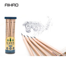 AIHAO 30Pcs HB Set Drawing Sketching Pencil Soft Safe Non-toxic Standard Pencils Professional Office School hexagonal Log pencil