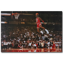 Michael Jordan Foul Line Dunk Art Silk Fabric Poster Print 13x20 24x36 inch Sport Pictures for Living Room Wall Decor 042