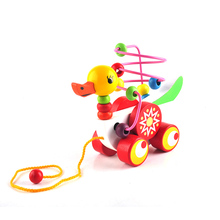 Duckling Trailer Mini Around Beads Puzzles Toy Educational Game Toys For Kids Children(China)