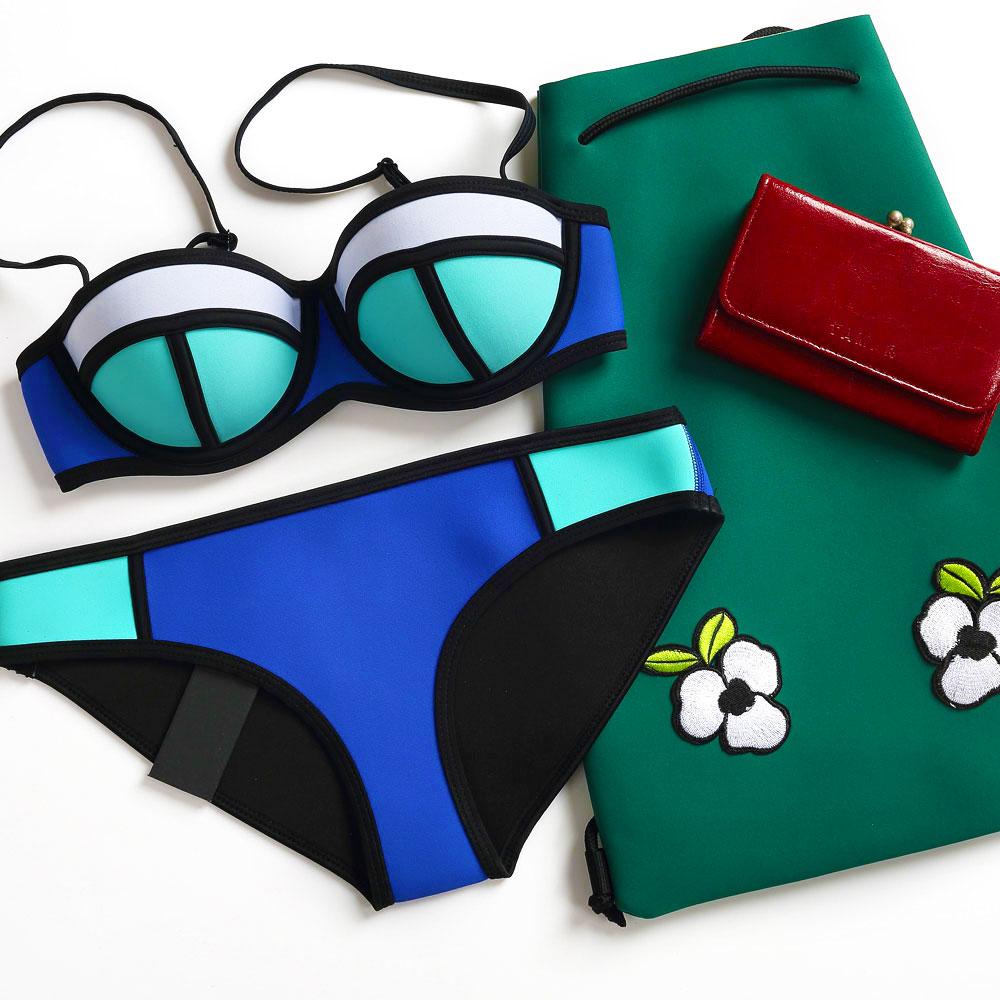 2017 New Style Neoprene Bikini Women Summer Swimwear Push Up Bikini set Bathsuit Biquini<br><br>Aliexpress