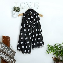 Spring and winter chiffon satin scarf cape beach towel polka dot silk scarf printed ladies wholesale scarf YOUNGER STORE YG016(China)