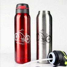 500ml Food Grade Stainless Stell Vacuum Travel Tour Sport Water Bottle Quality Coffee Tea Space Bottle Three Colors For Option(China)